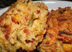 Mardi Gras Cornbread - Southern Bacon and Crawfish Cornbread Recipe. This is a delicious side or can even be served as a meal.