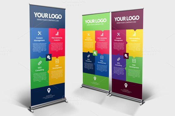Business Roll-up Banner - v004 by NEXDesign on Creative Market