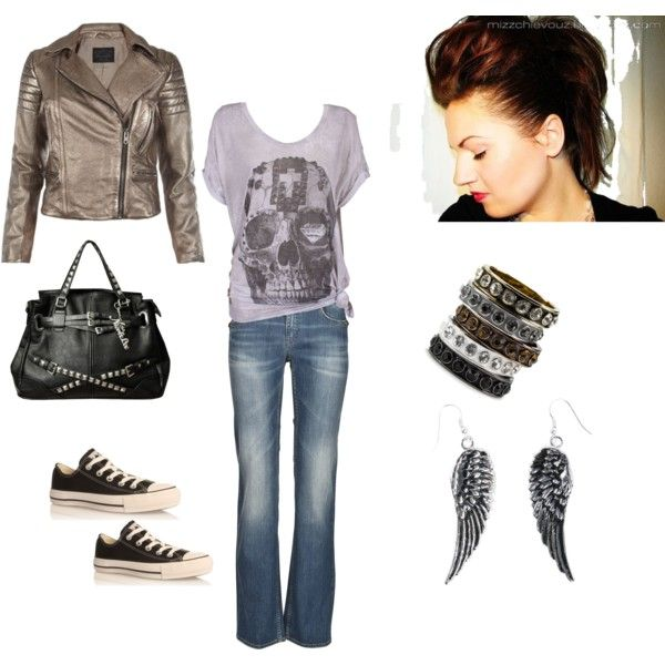 Great concert clothes (Rocker Chic). The hair is OK, but I would rather the jacket be black.