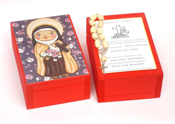 St Therese of Lisieux box Saint Therese Prayer box Girl first