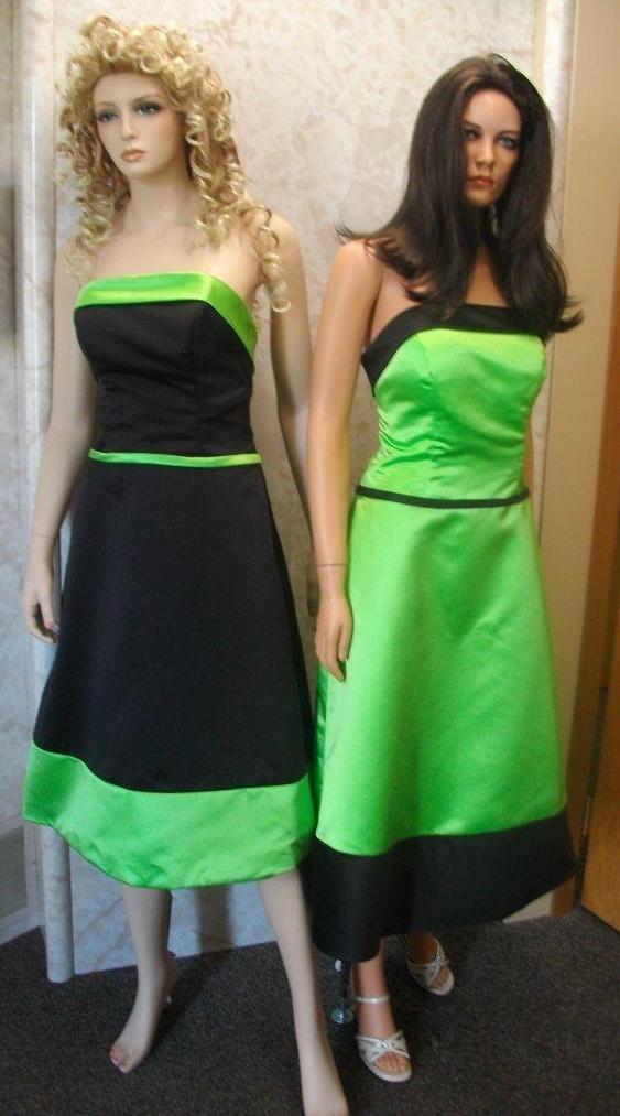 Lime green and black wedding dresses for Blue green wedding dress