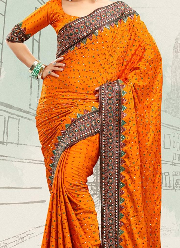 A Bandhani Saree