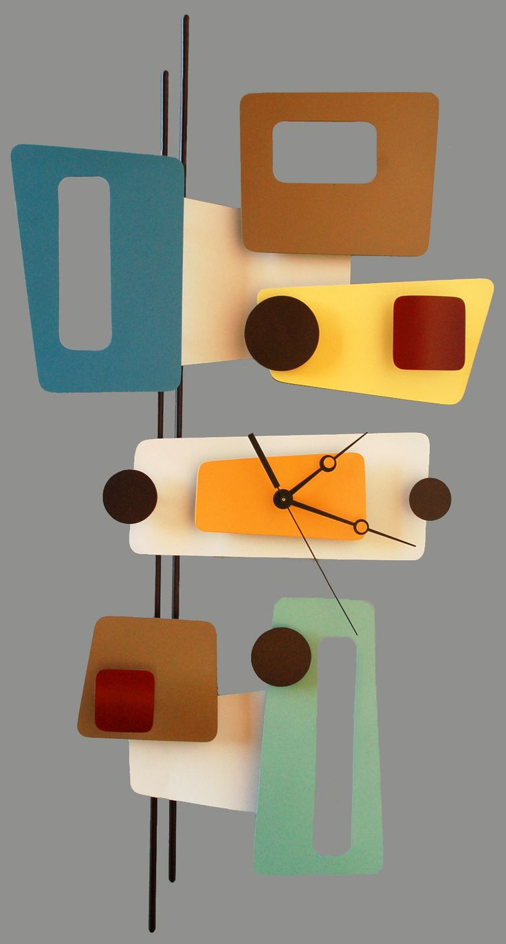 Mid Century Modern Inspired Clocks And Sculptures Artist  Steve Cambronne