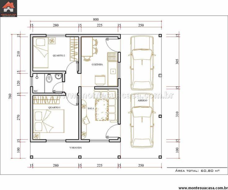 Casa 2 Quartos - 60.8m²