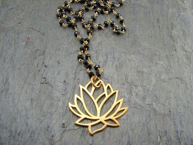 Mangalsutra - Awakening Large Lotus Necklace- Spinnel Gemstones