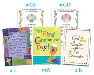 Check out these lovely First Communion greeting cards from Catholic Child!