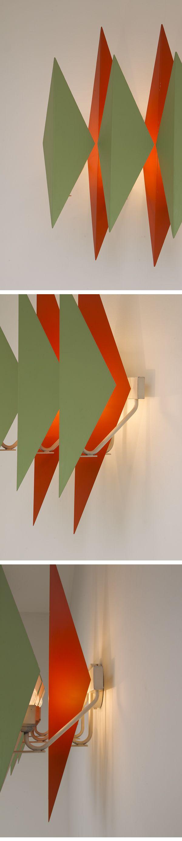 Large, Wall lamp, Simon Henningsen, Lyfa, Denmark, 1960