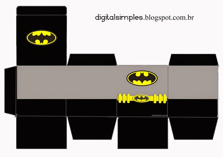 Free Printable Superheroes Cube Boxes.