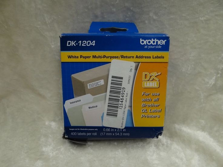 Genuine Brother DK-1204 Paper Label Roll - Retail Packaging New distressed pack #Brother