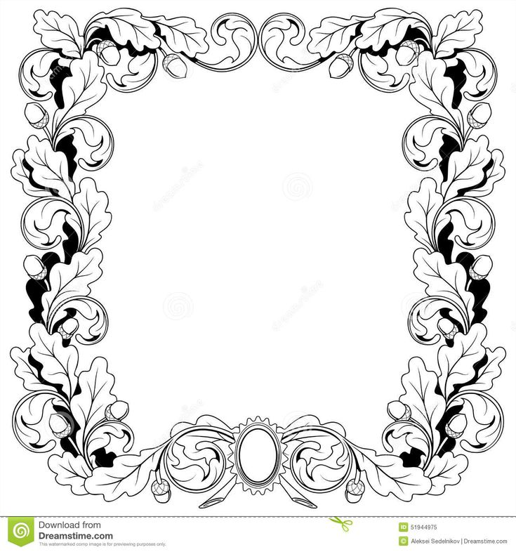 винтажный-орнамент-рамки-от-ветвей-уба-с-51944975.jpg (1300×1390)