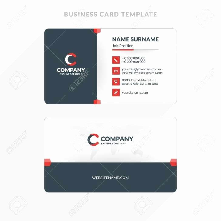 Double Sided Business Cards Template Inspirational Microsoft Word Twosided Busin Illustration Business Cards Double Sided Business Cards Business Card Template