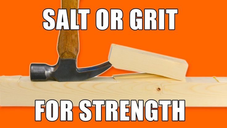 Doing Strength Testing Salt and Grit on Glue Joints!  #woodworkingprojects