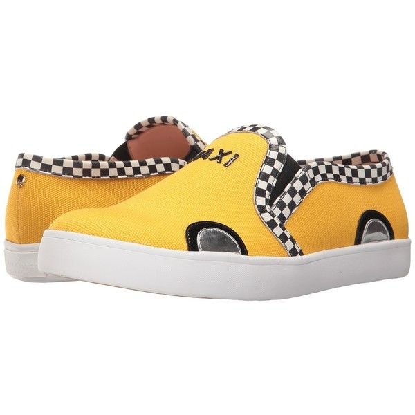 Kate Spade New York Linda (Dark Yellow Canvas/Black Patent) Women's... ($150) ❤ liked on Polyvore featuring shoes, flats, kate spade shoes, patent shoes, black patent shoes, synthetic shoes and patent leather shoes