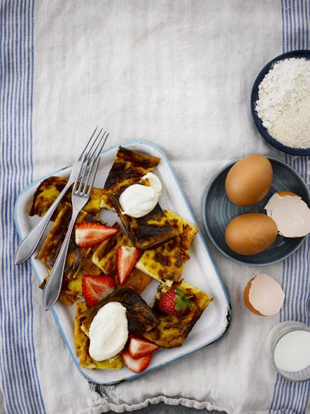 Åland pancake. Food & style Kati Pohja, photo Sami Repo. Glorian Ruoka&Viini Magazine 2013