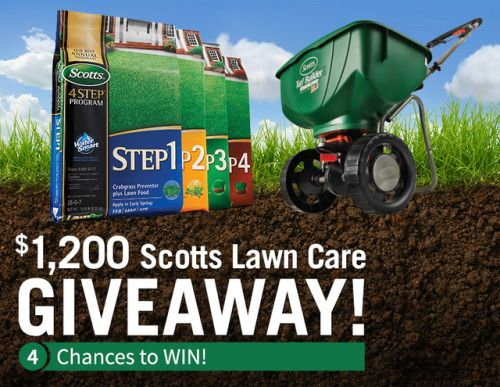 Scotts Lawn Care Giveaway - $1200 in Prizes! Four Winners {US}... sweepstakes IFTTT reddit giveaways freebies contests