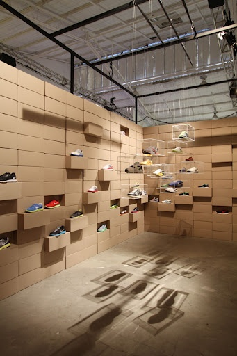 Pretty cool way to display shoes!