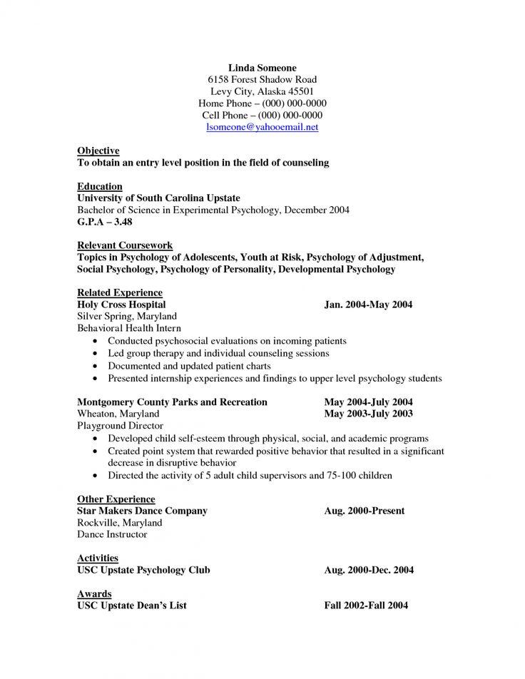 Cv template psychology psychology experimental