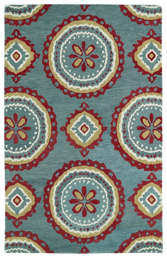 Kaleen Global Inspirations Teal and Red Rug (rugstudio)