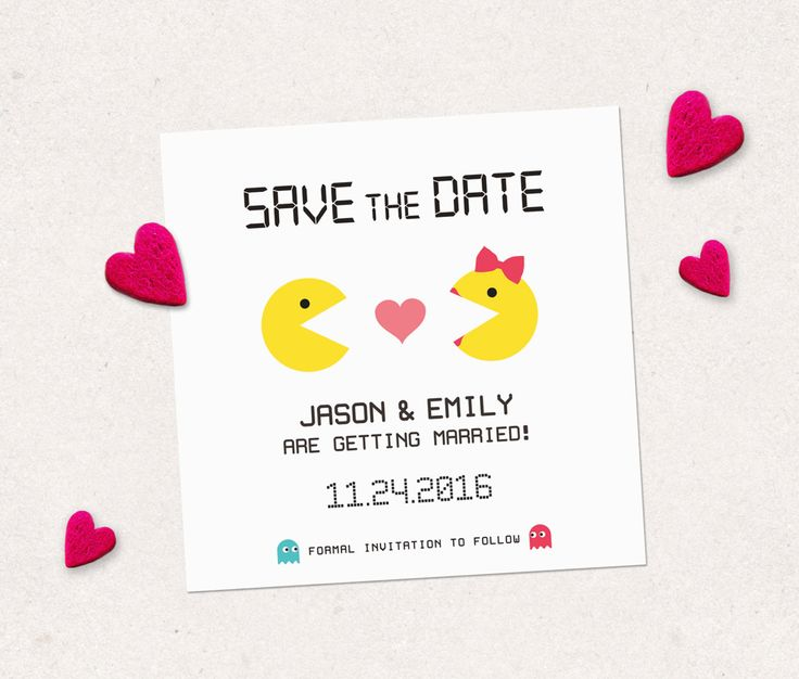 Save the date custom printable card. Funny engagement announcement personalized card to announce the big day! Digital file made to order. by PenguinGraphics on Etsy