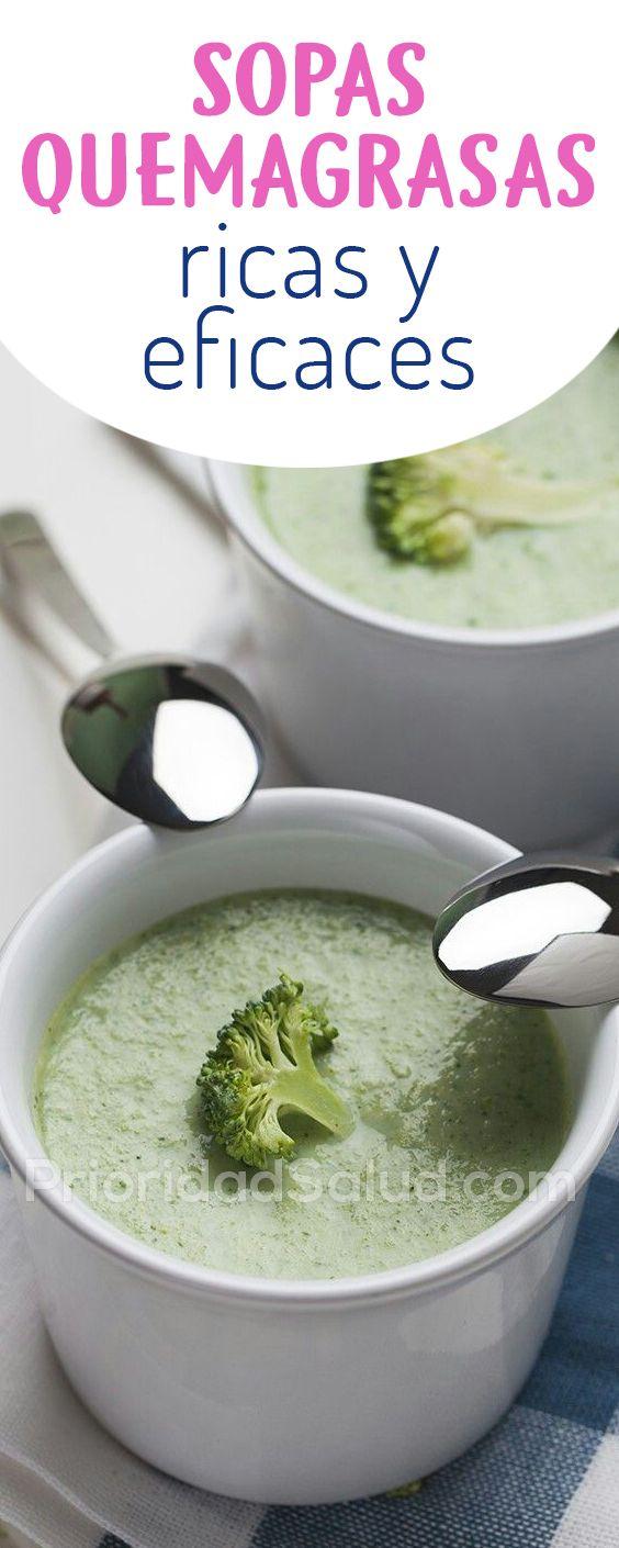 Sopas quemagrasas ricas y eficaces | Sopas | Food, Healthy