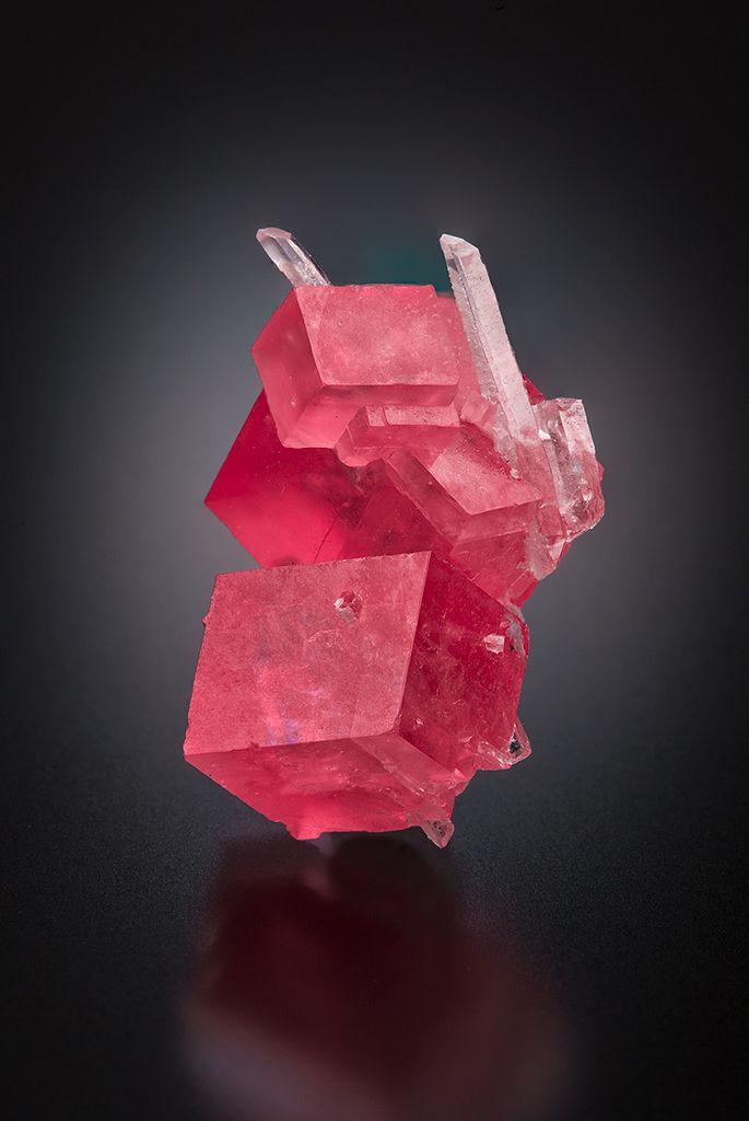 Rhodochrosite with Quartz - Sweet Home Mine, Alma, Colorado, USA Size: 2.3 x 1.4 x 1.1 cm