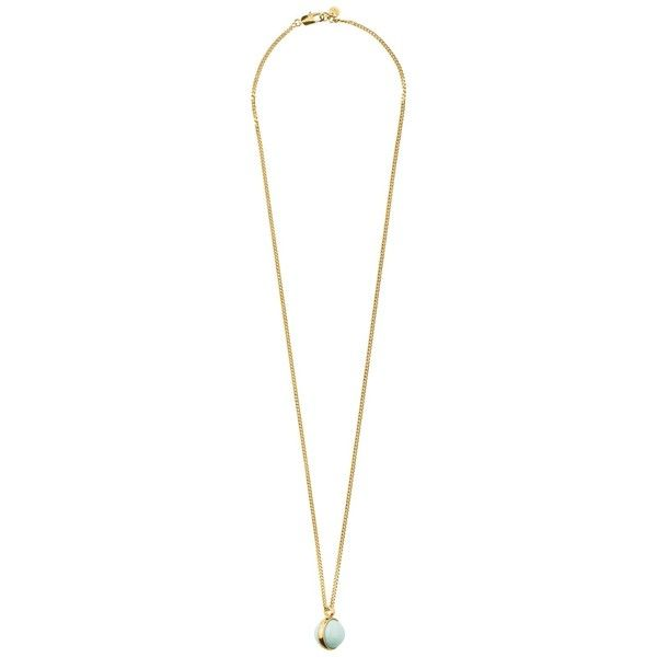Dyrberg/Kern Round Rub Over Pendant Necklace (£120) ❤ liked on Polyvore featuring jewelry, necklaces, amazonite, white gold chain necklace, circular pendant, swarovski crystal necklace, circle pendant and white gold pendant necklace