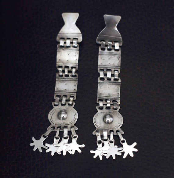 397f4356e These earrings are an adaptation of a Sikill, a sophisticated piece of  chest Mapuche jewelry
