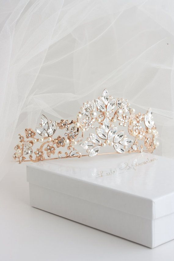 A stunning Handmade Wedding Tiara that dazzles with beauty. This Premium show stopping headpiece is a unique Lulu Splendor Design made specifically