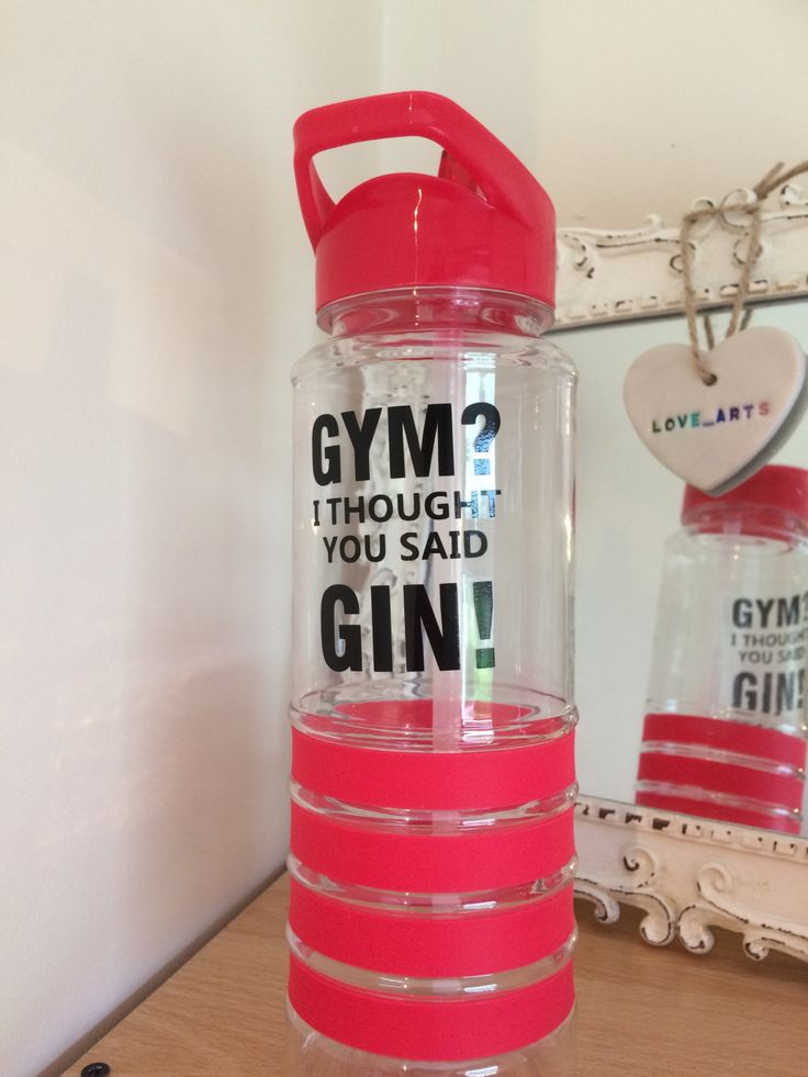 Gym bottle sportsbottle motivation gym gift Christmas flip lid red quote sports by LoveartsGifts on Etsy