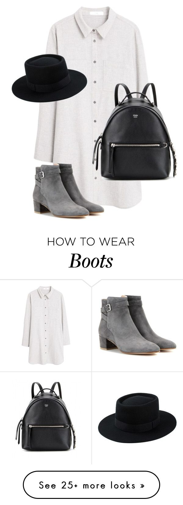 """Untitled #10445"" by alexsrogers on Polyvore featuring MANGO, Gianvito Rossi and Fendi"