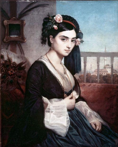 Oriental Lady by Charles Gleyre, 1865    B