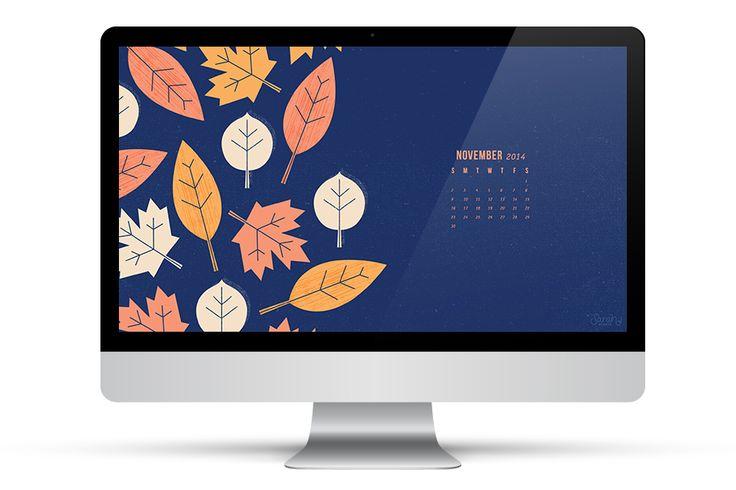 November 2014 Calendar Wallpapers by Sarah Hearts