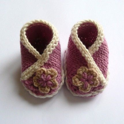 Baby Crossover Booties by Ceradka