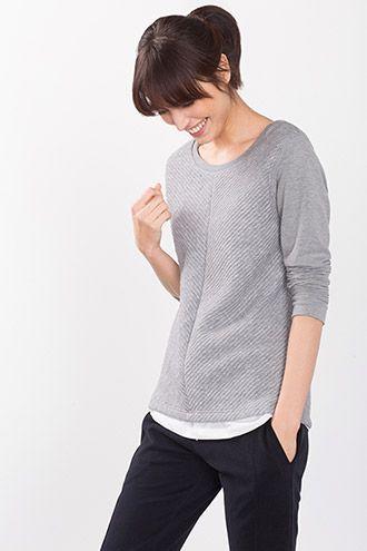 Esprit / Sweater i bomuldsmiks med ribber