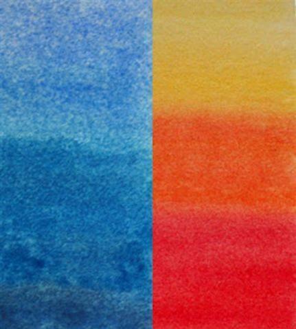 Het verschil tussen koude en warme kleuren noemen we het koud warm contrast warm koud - Warme en koude kleuren in verf ...