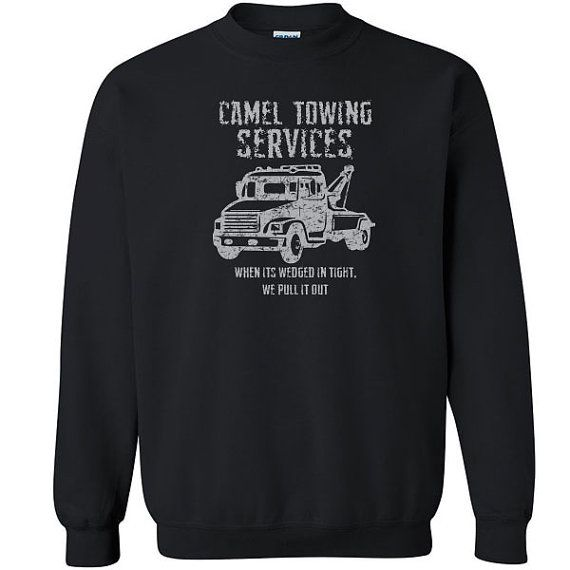 Camel Towing Services funny rude Unisex Sweatshirt //Price: $27.49 //     #customtees