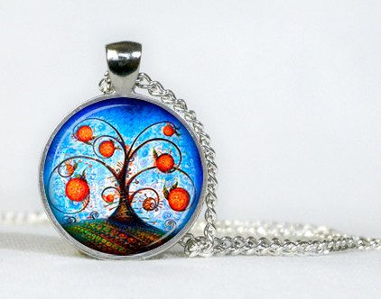 Orange Tree pendant. Necklace. Orange Tree Jewellery. Necklace. Gifts for her. Gifts for him.