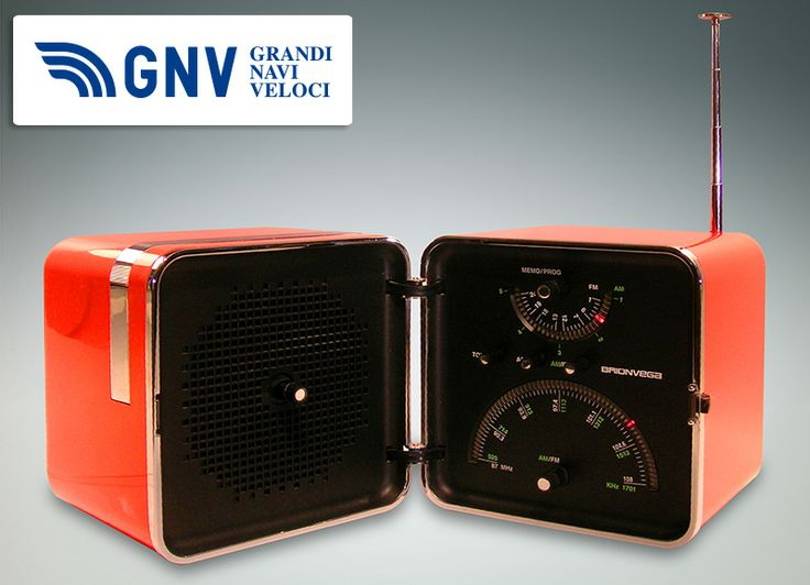 """#Brionvega #Cube #radio, retromodel """"TS 522"""" from 2004. This #electronics company, established in #Milan in 1945, is an #Italian #design #icon!    Discover #GNV routes from/to #Italy here: http://www.gnv.it/en/ferries-destinations.html?view=gnvmap"""