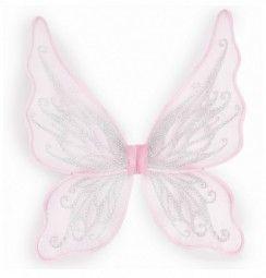 Glitzer-Feenflügel rosa Faschingszubehör, Great Pretenders