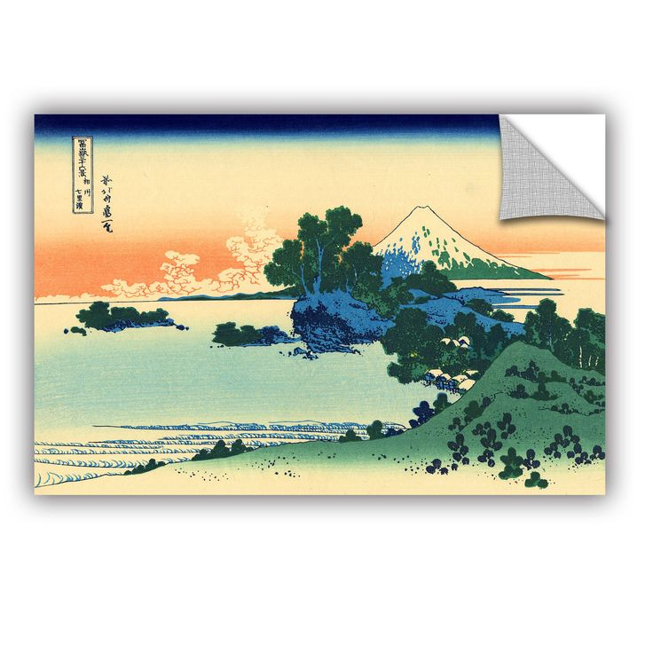 ArtWall ArtAppealz Katsushika Hokusai 'Shichiri Beach In Sagami Province' Removable Wall Art