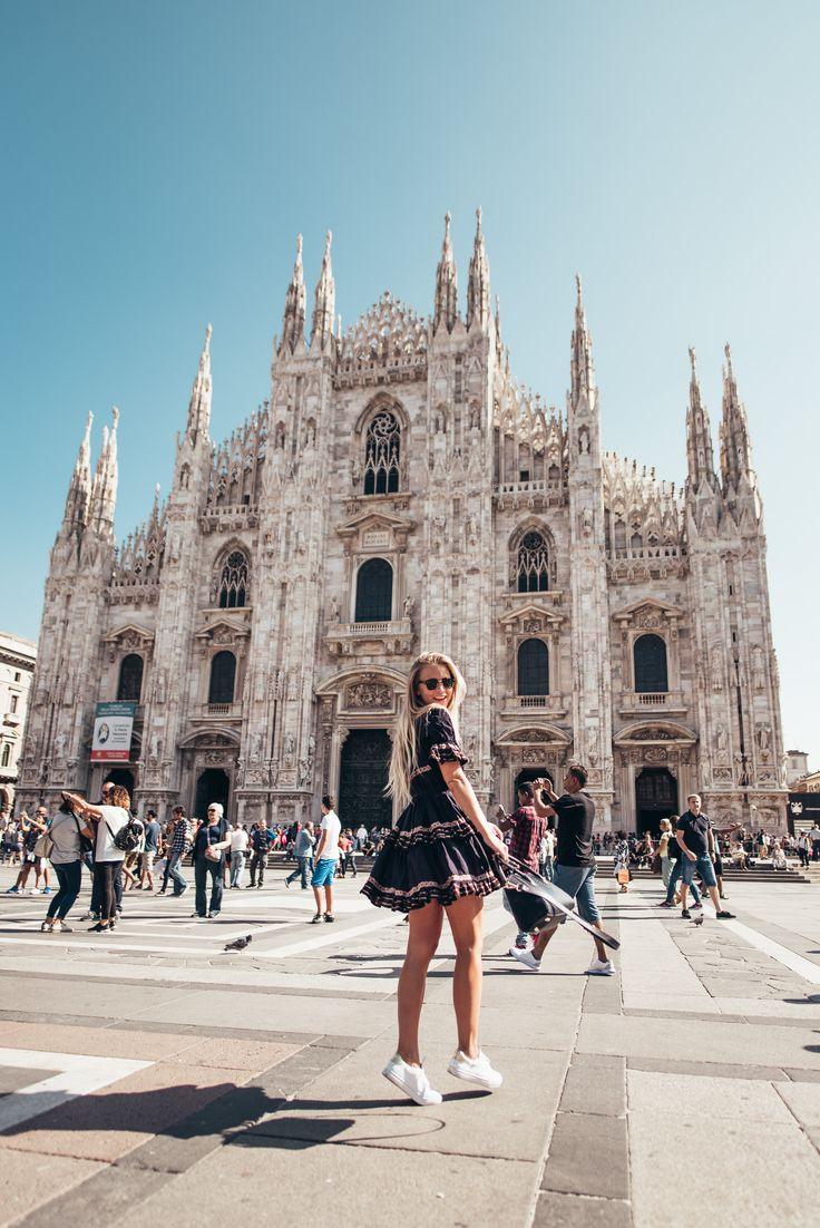 Explored Milan yesterday - Duomo is one of my favorite cathedrals! God morgon babes! Hur mår ni? Jag mår super, har det så härligt här. Solen skiner och det är varmt, har aldrig sett Milano så fint haha! Igår strosade vi runt som sagt, Allegra bor nära Duomo så vi gick såklart förbi där. Vi