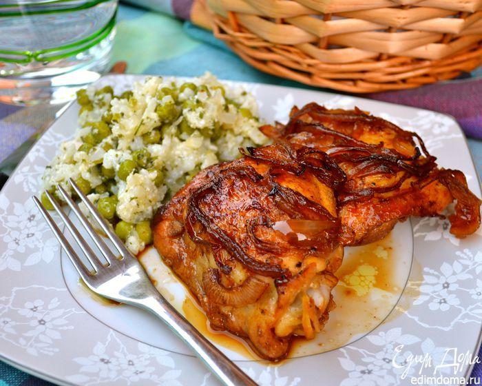 Курица в пряном маринаде  Маринад готовится на основе апельсинового сока и соевого соуса. Куриные бедрышки получаются бесподобно вкусными и ароматными! Приятного аппетита! #едимдома #готовимдома #рецепты #кулинария #домашняяеда #ужин