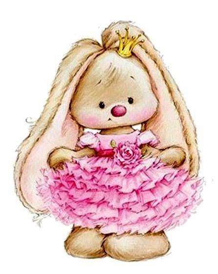 Coelhinha com Vestidinho Rosa
