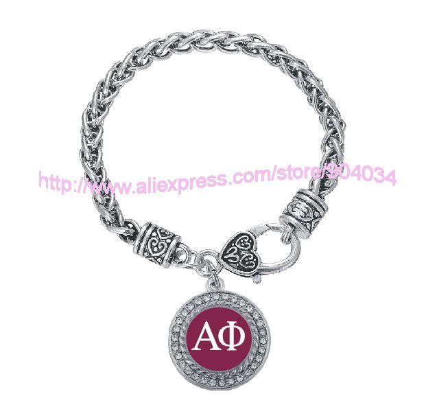 Customized  Alpha Phi Sorority  Bracelet Jewelry Rush sister Gift  1pc free shipping