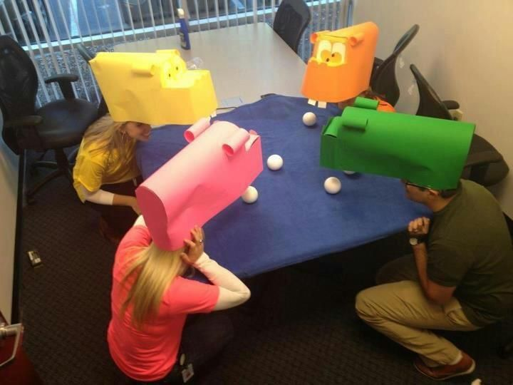 Ha ha! Hungry Hungry Hippos game: I have a lot of ping pong balls now...