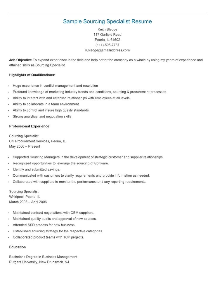 235 best resame images on Pinterest Website, Sample resume and - sourcing manager resume