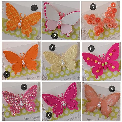 Ways To Dress Up Die Cuts: Butterflies Ideas, Brad Coats, Creative Cards, Boxes Ideas, Crafts Connection, Cut Butterflies, Cards Techniques, Paper Crafts, Embellishments Butterflies