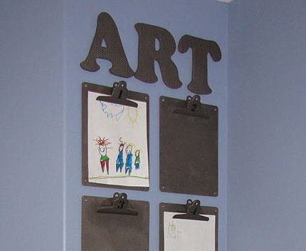 .: Craft, For Kids, Kid Art, Playroom, Art Display, Kids Art, Classroom Ideas, Kids Rooms