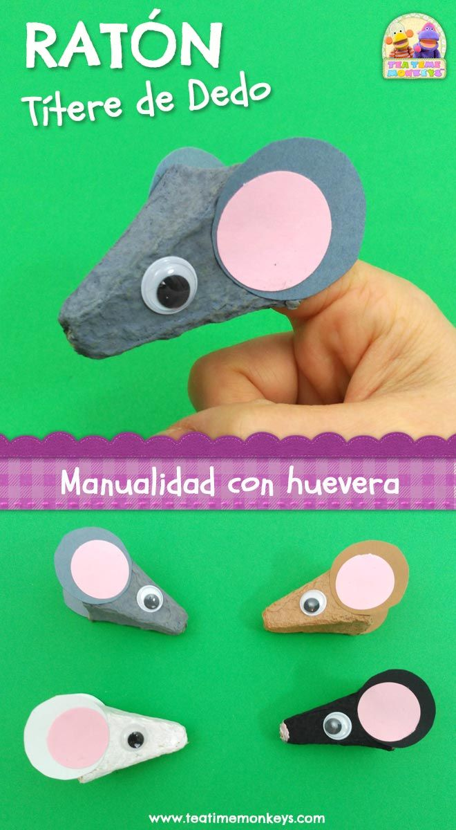 Here's a cute finger puppet mouse craft made from an egg carton! Great if you're doing a pets theme, or as a Chinese Year of the Rat activity. Crafts To Make, Easy Crafts, Crafts For Kids, Wooden Crafts, Recycled Crafts, Toddler Crafts, Preschool Crafts, Mouse Crafts, Egg Carton Crafts
