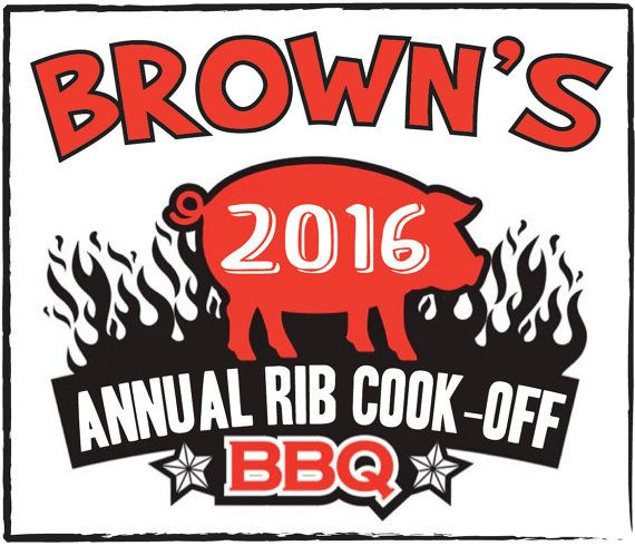 Annual Rib Cook off BBQ  personalized moist napkin by bysuzann